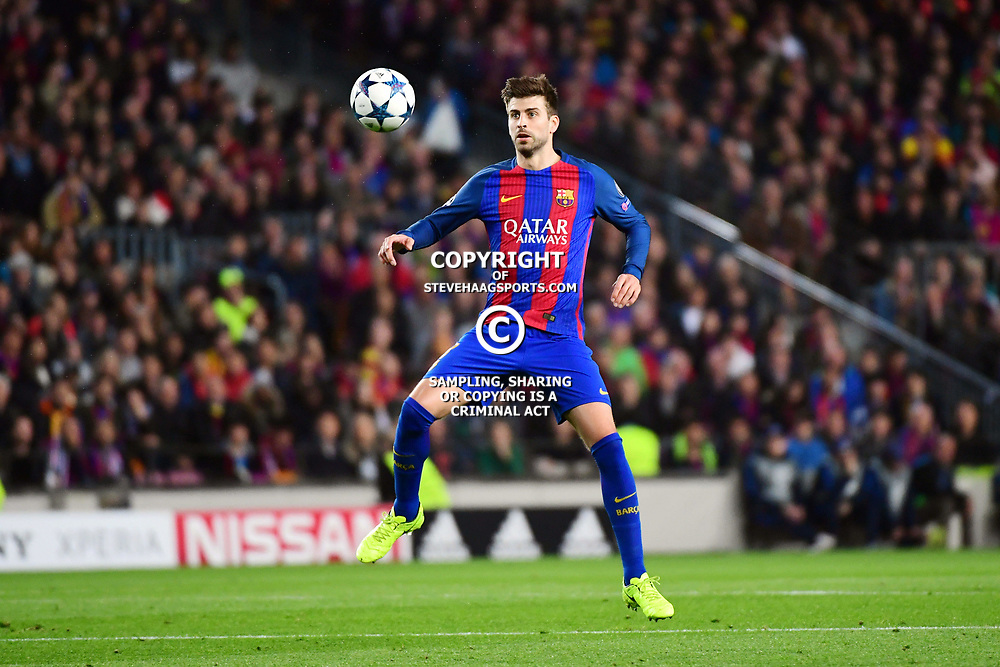 Gerard Pique of Barcelona during the Uefa Champions League Round of 16 second leg match between FC Barcelona and Paris Saint Germain at Camp Nou on March 8, 2017 in Barcelona, Spain. (Photo by Dave Winter/Icon Sport)