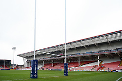 A general view of the Kingsholm pitch prior to the match - Mandatory byline: Patrick Khachfe/JMP - 07966 386802 - 30/03/2018 - RUGBY UNION - Kingsholm Stadium - Gloucester, England - Bath Rugby v Exeter Chiefs - Anglo-Welsh Cup Final