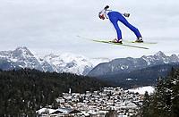 Kombinert, ,16.JAN.14 - SKI NORDISCH, NORDISCHE KOMBINATION, SKISPRINGEN- FIS Weltcup Nordic Triple, Training. Bild zeigt Haavard Klemetsen (NOR).<br /> <br /> Norway only