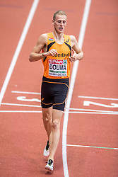 03-03-2017  SRB: European Athletics Championships indoor day 1, Belgrade<br /> In een lege Kombank Arena wordt de eerste dag van het Europees Kampioenschap gehouden / Richard Douma op de 1500 m