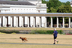 © Licensed to London News Pictures. 03/07/2015<br /> UK Heatwave weather today (03.07.2015)<br /> Hot sunny weather in Greenwich Park, Greenwich,London.<br /> (Byline:Grant Falvey/LNP)
