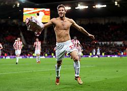 Stoke City's Ramadan Sobhi celebrates scoring his side's third goal of the game