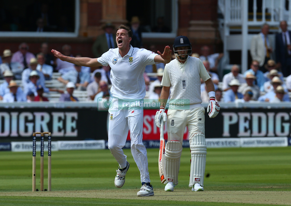 July 6, 2017 - London, England, United Kingdom - Morne Morkel of South Africa  cerebrate LBW on England's Gary Ballance  ..during 1st Investec Test Match between England and South Africa at Lord's Cricket Ground in London on July 06, 2017  (Credit Image: © Kieran Galvin/NurPhoto via ZUMA Press)