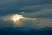 Nafplio, Greece, May, 2007-A gathering storm over the peloponnese.
