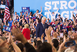 November 8, 2016 - Raleigh, United States - Bill Clinton, Hillary Clinton during a campaign rally at North Carolina State University on November 8, 2016 in Raleigh North Carolina. With less than 24 hours until Election Day in the United States, Hillary Clinton is campaigning in Pennsylvania, Michigan and North Carolina. (Credit Image: © Zach D Roberts/NurPhoto via ZUMA Press)