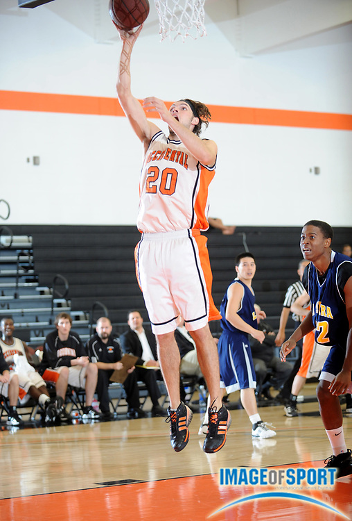 Nov 18, 2008; Los Angeles, CA, USA; Occidental College Tigers forward Henry Meier (20) goes up for a shot during 54-51 victory over the La Sierra Golden Eagles.