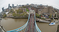 Virgin Money London Marathon 2015<br /> <br /> London Marathon at Tower Bridge<br /> <br /> Photo: Bob Martin for Virgin Money London Marathon<br /> <br /> This photograph is supplied free to use by London Marathon/Virgin Money.