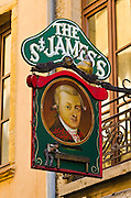 St. James Pub in old town Vieux Lyon, France (UNESCO World Heritage Site)