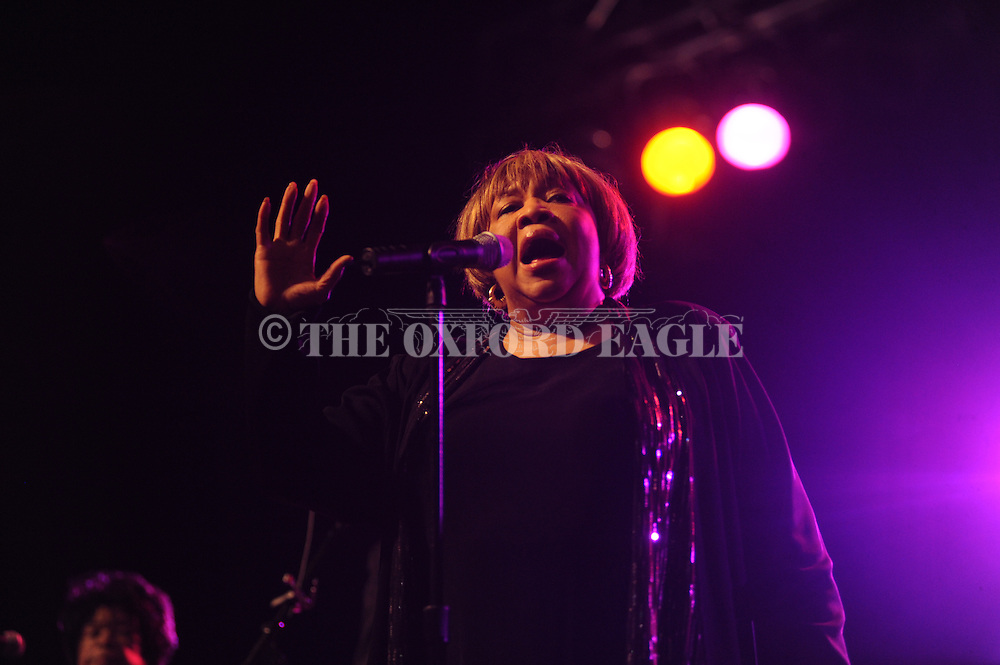 Mavis Staples performs at the Double Decker Arts Festival in Oxford, Miss. on Saturday, April 28, 2012.