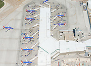 Aerial Photography of KDAL / Dallas Love Field and Southwest Airlines Gates