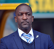 Chris Powell manager of Huddersfield Town during the Sky Bet Championship match at the John Smiths Stadium, Huddersfield against Queens Park Rangers<br /> Picture by Graham Crowther/Focus Images Ltd +44 7763 140036<br /> 29/08/2015