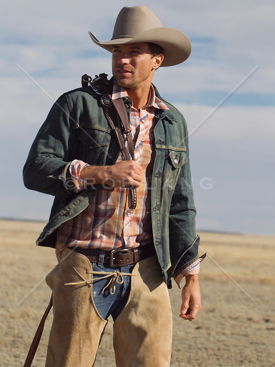 good looking cowboy on a ranch in New Mexico