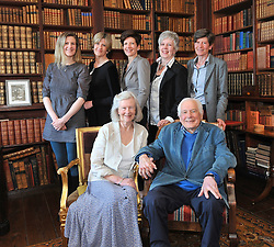 Jennifer and Jeremy Altamount with daughters Alannah, Lukie, Clare, Karen and Sheeyln at the launch of Lord Altamount's memoir 'A Life at Westport House 50 Years A Going'.<br /> Pic Conor McKeown
