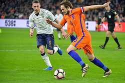 March 28, 2017 - Amsterdam, Netherlands - Daley Blind from the Netherlands and Andrea Belotti from Italy during the friendly match between Netherlands and Italy on March 28, 2017 at the Amsterdam ArenA in Amsterdam, Netherlands. (Credit Image: © Andy Astfalck/NurPhoto via ZUMA Press)
