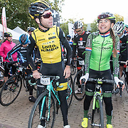 NLD/Amersfoort/20180929 - Bn-er fietsen de Zuiderzee Klassieker 2018,  Bram Tankink en Anouska Koster