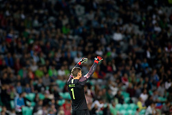 Vid Belec of Slovenia during football match between National teams of Slovenia and Bulgaria in Group stage of UEFA Nationals League, on September 6, 2018 in SRC Stozice, Ljubljana, Slovenia. Photo by Urban Urbanc / Sportida