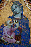 Unusual representation of the Madonna suckling the Christ Child