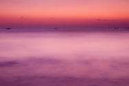 Tranquil sunrise over the Gulf of Oman, Fujairah, UAE.