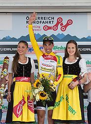 12.07.2015, Innsbruck, AUT, Österreich Radrundfahrt, 8. Etappe, von Innsbruck nach Bregenz, im Bild Victor Gonzalez de la Parte (ESP, 1. Platz Gesamtwertung), Gesamtsieger // Overall winner Victor Gonzalez de la Parte of Spain during the Tour of Austria, 8th Stage, from Innsbruck to Bregenz, Innsbruck, Austria on 2015/07/12. EXPA Pictures © 2015, PhotoCredit: EXPA/ Reinhard Eisenbauer