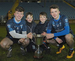 Paul and Pat Lambert with their younger brother&rsquo;s Dan and Tom after Westport&rsquo;s u21 final win at McHale park.<br /> Pic Conor McKeown