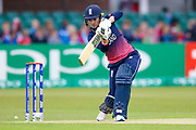 England womens cricket player Sarah Taylor (wk)  plays a shot during the ICC Women's World Cup match between England and Pakistan at the Fischer County Ground, Grace Road, Leicester, United Kingdom on 27 June 2017. Photo by Simon Davies.