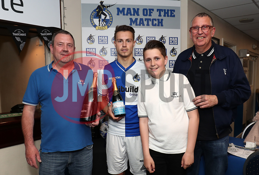 Sponsors with Man of the Match Billy Bodin - Mandatory by-line: Gary Day/JMP - 30/04/2017 - FOOTBALL - Memorial Stadium - Bristol, England - Bristol Rovers v Millwall - Sky Bet League One