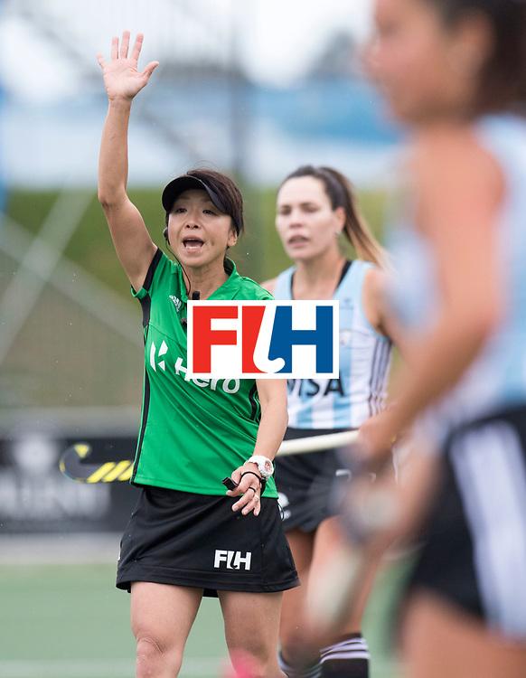 AUCKLAND - Sentinel Hockey World League final women<br /> Match id 10294<br /> 04 Argentina v China.<br /> Foto: Umpire SOMA Chieko (JPN)<br /> WORLDSPORTPICS COPYRIGHT FRANK UIJLENBROEK