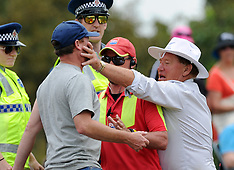 Christchurch-Heckling spectator receives hand in face from security