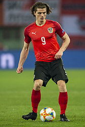 March 21, 2019 - Vienna, Austria - Marcel Sabitzer of Austria controls the ball during the UEFA European Qualifiers 2020 match between Austria and Poland at Ernst Happel Stadium in Vienna, Austria on March 21, 2019  (Credit Image: © Andrew Surma/NurPhoto via ZUMA Press)