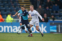 WYCOMBE, ENGLAND - Saturday, February 4, 2012: Tranmere Rovers' xxxx in action against Wycombe Wanderers during the Football League One match at Adams Park. (Pic by David Rawcliffe/Propaganda)
