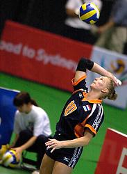18-06-2000 JAP: OKT Volleybal 2000, Tokyo<br /> Nederland - China 3-0 / Henriette Weersing