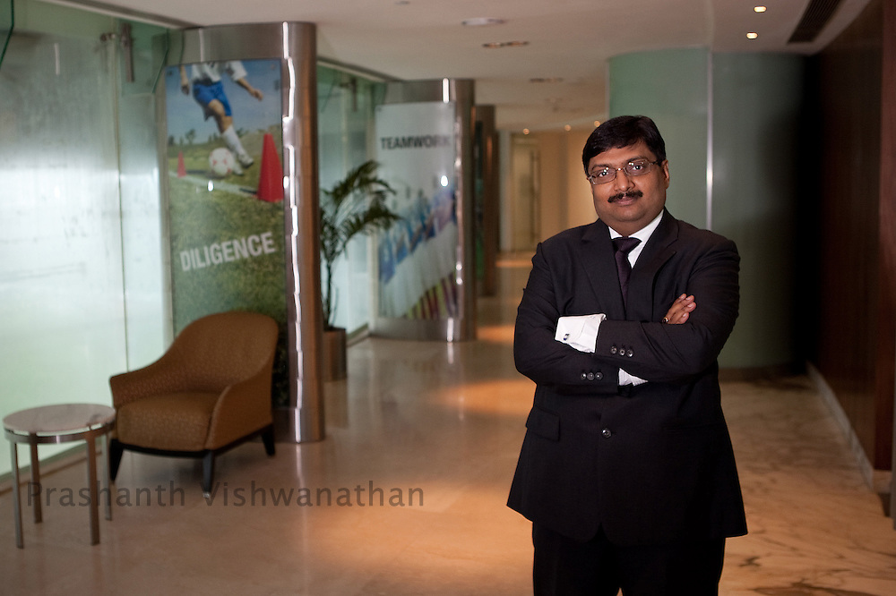 Sachindra Nath chief executive officer, Religare Enterprises  Ltd, poses for a picture after, an interview at the Religare registered office, in New Delhi, India, on Monday, August 16, 2010. Photographer: Prashanth Vishwanathan/Bloomberg News