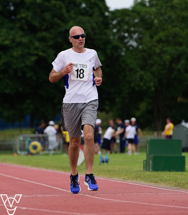 Metro Blind Sport's 2017 Athletics Open held at Mile End Stadium.  1500m.  David Beynon<br /> <br /> Picture: Chris Vaughan Photography for Metro Blind Sport<br /> Date: June 17, 2017
