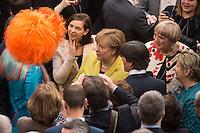 12 FEB 2017, BERLIN/GERMANY:<br /> Olivia Jones, Dragqueen, Katrin Goering-Eckardt, B90/Gruene, Fraktionsvorsitzende und Spitzenkandidatin, Angela Merkel, CDU, Bundeskanzlerin, Joachim Loew, Fussball-Bundestrainer, und Claudia Roth, B90/Gruene, ehem. Bundesvorsitzende, (v.L.n.R.), im Gespr&auml;ch, 16. Bundesversammlung zur Wahl des Bundespraesidenten, Reichstagsgebaeude, Deutscher Bundestag<br /> IMAGE: 20170212-02-030<br /> KEYWORDS; Gespr&auml;ch, Katrin G&ouml;ring-Eckardt, Joachim L&ouml;w,<br /> Bundespraesidentenwahl, Bundespr&auml;sidetenwahl