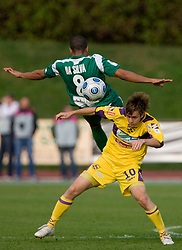 Joao Gabrijel Da Silva of Olimpija and Rene Mihelic of Maribor at 13th Round of Prva Liga football match between NK Olimpija and Maribor, on October 17, 2009, in ZAK Stadium, Ljubljana. Maribor won 1:0. (Photo by Vid Ponikvar / Sportida)