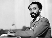 Haile Selassie I (1892 – 1975), Ethiopia's regent from 1916 to 1930 and Emperor of Ethiopia from 1930 to 1974.  Circa 1936