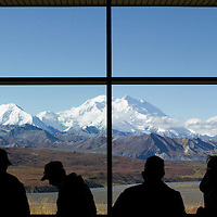 Visitors to Denali National Park, Alaska enjoyed an unusually clear view of Mt. McKinley.