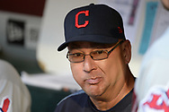 PHOENIX, AZ - APRIL 08:  Terry Francona #17 of the Cleveland Indians looks on from the dugout in the MLB game against the Arizona Diamondbacks at Chase Field on April 8, 2017 in Phoenix, Arizona. The Arizona Diamondbacks won 11-2.  (Photo by Jennifer Stewart/Getty Images)