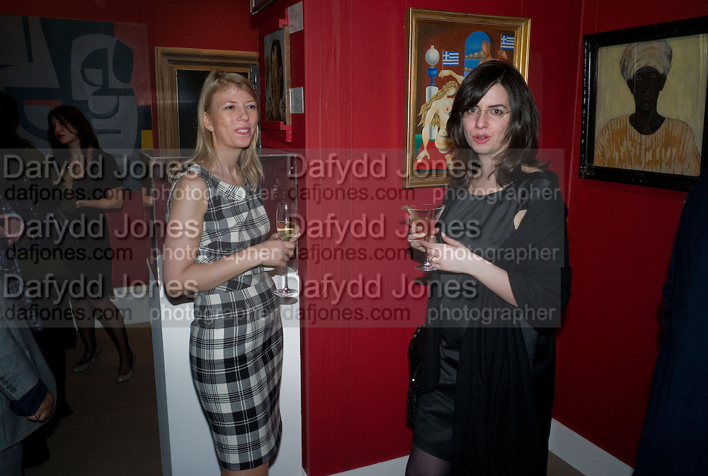 PIA CARLSEN; ANTONIA SPANOS, Preview of Greek Sale sponsored by Citibank. Sotheby's. New Bond st. London. 10 November 2008 *** Local Caption *** -DO NOT ARCHIVE -Copyright Photograph by Dafydd Jones. 248 Clapham Rd. London SW9 0PZ. Tel 0207 820 0771. www.dafjones.com