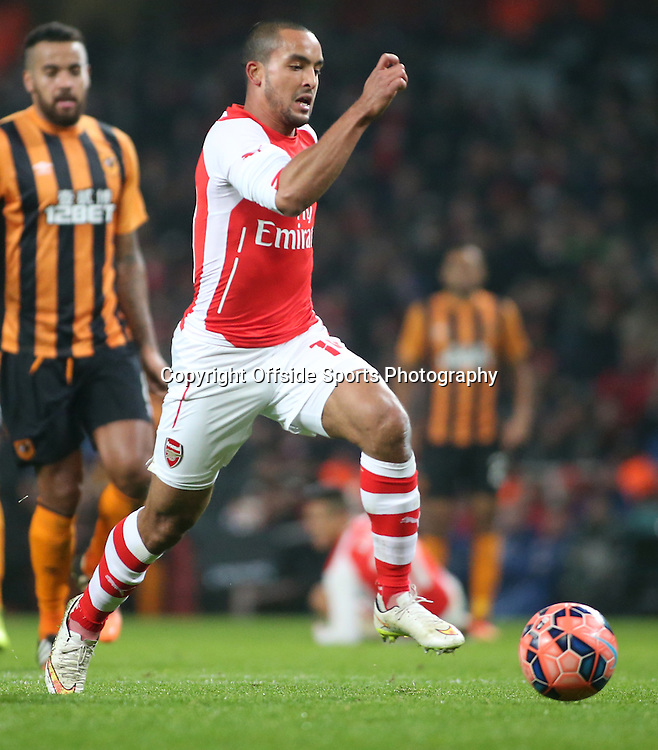 04 January 2015 - FA Cup Third Round - Arsenal v Hull City - Theo Walcott of Arsenal in action.<br /> <br /> Photo: Ryan Smyth/Offside