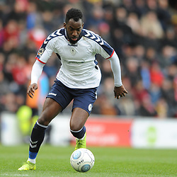 TELFORD COPYRIGHT MIKE SHERIDAN 16/3/2019 - Amari Morgan Smith of AFC Telford during the FA Trophy semi final first leg fixture between Leyton Orient and AFC Telford United at Brisbane Road.