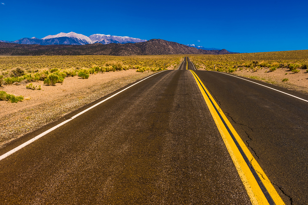 Highway 120 in Mono County, California USA.
