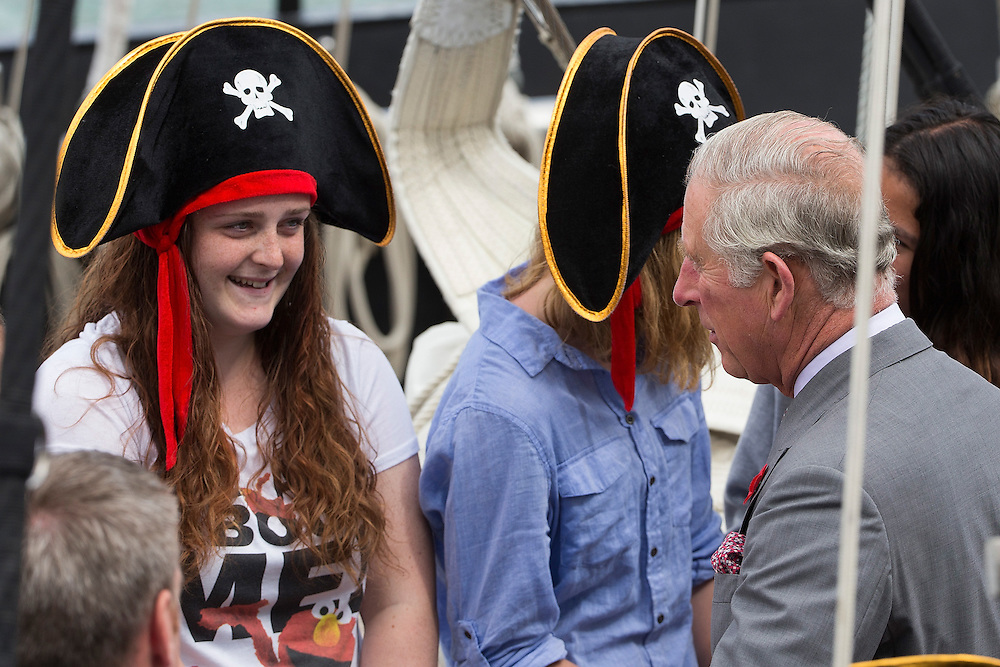 The Prince of Wales visits the New Zealand Youth Training Vessel, Spirit of New Zealand, Princes Wharf, New Zealand, on  Tuesday, November 10, 2015. Credit: SNPA / David Rowland