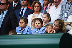 Wimbledon - Mirka Federer In The Stands - 14 July 2019