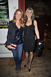 Left to right, CLAIRE SWEENEY and JULIA ENGLEMAN at the gala night party of Losing It staring Ruby Wax held at he Menier Chocolate Factory, 51-53 Southwark Street, London SE1 on 23rd February 2011.