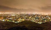 The Roof of Tehran (Bam-e-Tehran) at night seen from mount Tochal. Tehran, Iran