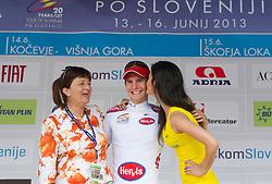 Mojca Novak of KK Adria Mobil and Jan Polanc, best U23 rider after the Stage 2 from Kocevje to Visnja Gora (168,5 km) of cycling race 20th Tour de Slovenie 2013,  on June 14, 2013 in Slovenia. (Photo By Vid Ponikvar / Sportida)