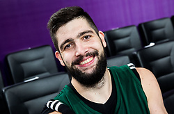 Ziga Dimec of Slovenia at practice session of Team Slovenia 1 day before final match against Serbia at Day 17 of FIBA EuroBasket 2017 at Sinan Erdem Dome in Istanbul, Turkey on September 16, 2017. Photo by Vid Ponikvar / Sportida