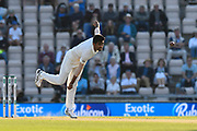 Jasprit Bumrah of India bowling the final over of the day during day two of the fourth SpecSavers International Test Match 2018 match between England and India at the Ageas Bowl, Southampton, United Kingdom on 31 August 2018.