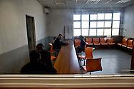 Roma 7 Febbraio  2014<br /> Il Centro di identificazione ed espulsione (CIE), per immigrati di Ponte Galeria a Roma. La sala colloqui<br />   Center for Identification and Expulsion (CIE) for immigrants from Ponte Galeria in Rome.